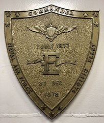 Battle Effectiveness Award (orange27) Tags: ussmidwaycv41 ussmidway cv41 midwayclassaircraftcarrier aircraftcarrier usnavy sandiego california unitedstates northamerica