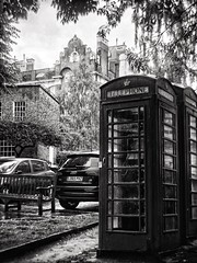 Flask Walk (marc.barrot) Tags: bw phonebox streetphotography landscape urban street uk nw3 london hampstead flaskwalk