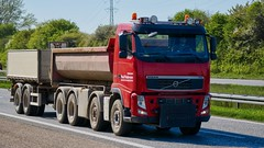 AA71767 (18.05.08, Motorvej 501, Viby J)DSC_7524_Balancer (Lav Ulv) Tags: 247842 volvo volvofh fh500 fh3 2012 poulpedersen virring rigid rolloffcontainer trailer kærre red e5 euro5 8x4 truck truckphoto truckspotter traffic trafik verkehr cabover street road strasse vej commercialvehicles erhvervskøretøjer danmark denmark dänemark danishhauliers danskefirmaer danskevognmænd vehicle køretøj aarhus lkw lastbil lastvogn camion vehicule coe danemark danimarca lorry autocarra danoise vrachtwagen motorway autobahn motorvej vibyj highway hiway autostrada