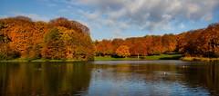Fredericksborg lake (ArmyJacket) Tags: denmark hillerod fredericksborg europe scandinavia fall autumn color sky lake water travel tourist