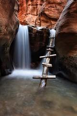 Sketchy Ladder (maberto) Tags: utah kanaresecreek waterfall water landscape d7200 ©bradmaberto nikon longexposure