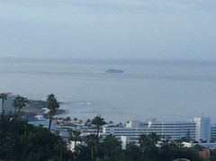 IMG_1704 (rugby#9) Tags: tenerife canaryislands canaries view boat ship catemaran trees palmtree palmtrees beach hotel hotels bay sea ocean landscape