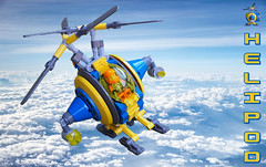 Heli-Pod (David Roberts 01341) Tags: lego helicopter technic scifi future fun searchandrescue minifigure synchropter space mechanical toy skyfi