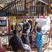 Barber in the Kejetija market, Kumasi