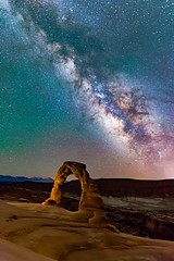Delicate arch under the Aurora (kfblanch) Tags: milkyway milk star stars astrophotography nature arches delicatearch photooftheday nightphotography favphoto topnaturephotos night dark longexposure canon 6d sigma 20mm dslr fullframe utah aurora auroraborealis sigmaart artlens
