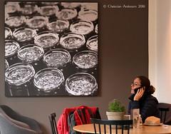 ... Café Emmerys ... (ChristianofDenmark) Tags: christianofdenmark copenhagen denmark autumn café emmerys cellphone talk coffee