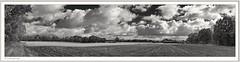 2018-09-25_08-21-20 (fredericfromage) Tags: sw bw monochrom panorama himmel wilken wetter felder bäume natur münsterland