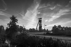 Herbstmorgen (wpt1967) Tags: 28102015 bergbau castroprauxel eos60d erinpark förderturm herbst industriekultur nrw ruhrgebiet ruhrpott tokina1116mm autumn bw coalmining fall mining sw wpt1967