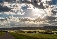 Qu'Appelle Sunset (TigerPal) Tags: saskatchewan sask prairie plains backroads exploration quappellevalley rural rurex ellisboro sunset landscape cloudporn sky skies