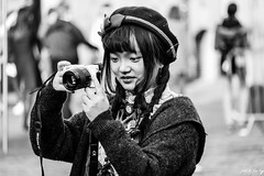 I Shoot Sony (Cycling-Road-Hog) Tags: beret candid canoneos750d citylife colour efs55250mmf456isstm edinburgh fashion hat monochrome people places royalmile scotland street streetphotography streetportrait style urban woman
