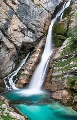 Savica waterfall (davormalnar) Tags: savica waterfall turquoise bled bohinj sava water river summer slovenia spring stream white foam
