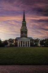 Wait Chapel Sunset (Longleaf.Photography) Tags: wait chapel sunset color wakeforest university academic religion god church campus nc
