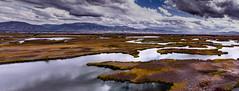 Cutler Marsh and the Bear River Mountain Range (dion.rebalkin) Tags: mendon utah unitedstates us marsh cloudy stormy