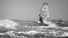 Storm Surfer @ sea (Drummerdelight) Tags: blackwhite bw surfers waves watersport windsurfer sport action