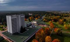 Hotel (free3yourmind) Tags: hotel aerial view drone quadcopter xiaomi mi autumn trees yunost belarus minsk sanatorium