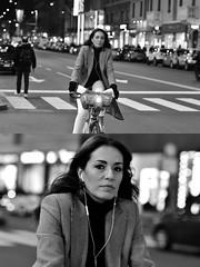 [La Mia Città][Pedala] (Urca) Tags: milano italia 2018 bicicletta pedalare ciclista ritrattostradale portrait dittico bike bcycle nikondigitale scéta biancoenero blackandwhite bn bw 115848