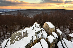 Bobs Hill Sunset by Jeffrey Walters (Maryland DNR) Tags: 2018 photocontest scenery sceniclandscape winter snow bobshill naturalarea frederickcounty mountains