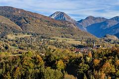 Au pays des Baujus – Les 3 Clochers (Savoie 10/2018) (gerardcarron) Tags: village savoie canon80d les bauges lescheaines le chatelard lamotteenbauges