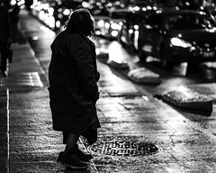 Long nights (Frederik Trovatten) Tags: black white blackandwhite blackandwhitephotography streetphotography bnw noir woman oldwoman sad night lights romantic fuji fujifilm xt3 bokeh
