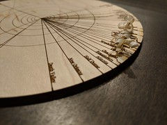 azimuthal artifact (fo.ol) Tags: lasercutter map spatial wood
