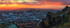 Panoramic view of the Edinburgh skyline at sunset (MilesGrayPhotography (AnimalsBeforeHumans)) Tags: 2470 fe2470mmf4zaoss architecture auldreekie autumn a7rii sonya7rii ilce7rm2 sonyfe2870mmf3556oss sonyilce7rm2 britain bridges city cityscape castle castlerock crags salisburycrags dusk edinburgh europe evening edinburghcastle fe f4 firthofforth fife glow golden goldenhour historic historicscotland iconic kingdomoffife landscape lens landscapephotography mountains nd nighfall outdoors old oss oldtown photography photo panorama panoramic pano rocks ruins royalmile scotland scenic sky skyline sunset sunlight sunshine sony scottish scottishlandscapephotography town twilight uk unitedkingdom unesco village volcano volcanic wide zeiss clouds colours colourful