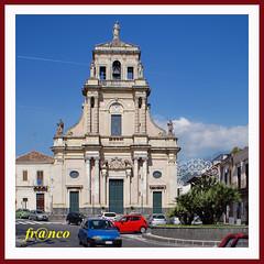 Santa Venerina (fr@nco ... 'ntraficatu friscu! (=indaffarato)) Tags: italia italy sicilia sicily catania chiesa piazza