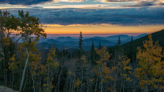 Beauty of an Autumn Sunrise (RkyMtnGrl) Tags: landscape nature scenery autumn sunrise daybreak morning aspens mountains layers clouds rockymountains colorado 2018 nikon 28300mm