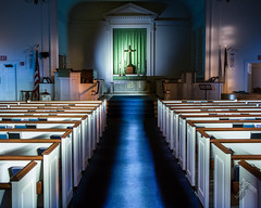 Aloha365 - Day 161 - September 25, 2018 - Church pews (alohadave) Tags: 365project aloha365 autumn effects fall lightpainting massachusetts night norfolkcounty northamerica pentaxk3 places quincy quincypoint quincypointcongregationalchurch season sigma1750mmf28exdchsm unitedstates