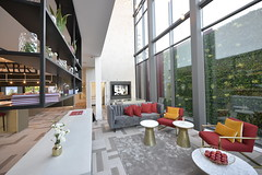 Postmark | Marketing Suite - Waiting Area (Octink) Tags: postmark marketing suite octink installation install sales cabin space decoration interior examples example home terrace office hoarding post rooftop show hall entrance showhome bar london