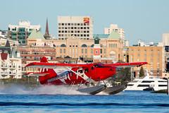 On the Slide (Jason Pineau) Tags: cfodh 307 harbourair seaplane seaplanes dehavilland victoria harbour cywh vancouverisland ocean coast floatplane dhc3 otter turbine canada flag