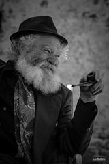 Giuseppe Spagnuolo (lucasodano) Tags: blacknwhite bw black white ritratto portrait wise old man ghost town beard shadows smile nikon d7200 tamron 70200 g2 sigma 1770mm