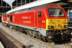 67010 91125 1E06 (Rob390029) Tags: db dbc deutschebahn cargo class 67 67010 newcastle central railway station ncl ecml east coast mainline transport transportation travel