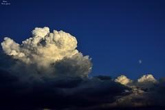 Clouds moon (Peideluo) Tags: clouds cloudscape nature moon sky blue nubes cielo luna paisaje nube