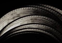 Mono Measurement ..x (Lisa@Lethen) Tags: macromondays measurement cloth measuring tape mono bw black white macro