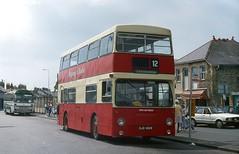 Pwllheli in the late '80s. (Renown) Tags: bus coach doubledecker daimler fleetline dms parkroyal mcw clynnogtrefor ojd186r pwllheli northwales knotty lcbs londontransport lt greenline pph431r
