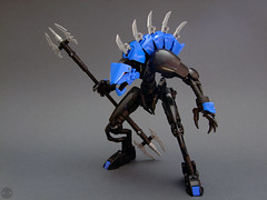 Son of Makuta - Disintegration (Djokson) Tags: rahkshi guurahk monster demon lizardman armor kraata makuta blue black disintegration bionicle lego moc djokson model toy