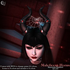 *NW* Maleficent Horns (NeverWish) Tags: nw neverwish broom secondlife horns