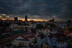 Minsk Sunset (free3yourmind) Tags: minsk belarus sunset nemiga centre center view panoramic autumn clouds cloudy