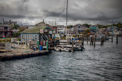 Harbor at Oak Bluffs (donnieking1811) Tags: massachusetts oakbluffs marthasvineyard harbor buildings water boats docks star outdoors sky clouds canon 60d lightroom photomatixpro