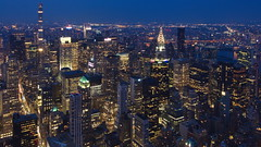 Midtown from above (sonic182) Tags: view midtown manhattan from 86th floor observatory empire state building new york city usa usa2018 united states america blue hour evening dusk night skyline skyscraper skyscrapers long exposure ny nyc