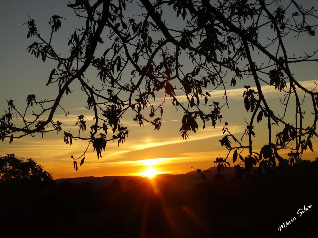 Águas Frias (Chaves) - ... pôr do sol, no termo da Aldeia ...