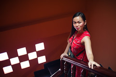 Seeing Red (phil.w) Tags: pentax k1 limited vietnam colorful fa43 43mm smcpfapentax43mmf19limited hochiminh staircase stairwell red noir portrait beautiful
