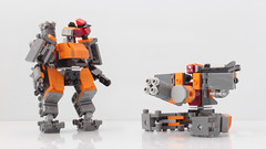 Bastion's transformation to sentry mode (hachiroku24) Tags: lego bastion overwatch transformation sentry set