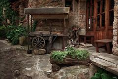 La fachada (candi...) Tags: fachada casa pueblo mura carro rueda puerta piedra airelibre sonya77 arquitectura