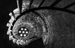 Spiral, Hurst castle (Westhamwolf) Tags: hurst castle spiral staircase black white bw england norman dorset coast seaside