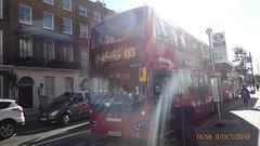 P1130824 VMH2444 LK18 AGO at Gloucester Place Marylebone London (LJ61 GXN (was LK60 HPJ)) Tags: volvob5lhybrid mcvevoseti mcv evoseti metroline 105m 10490mm vmh2444 lk18ago nb895