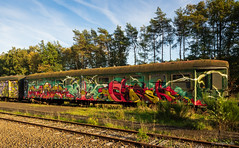 AEROSOL KINGS on tour (kultpix) Tags: kunst art design bahn wagon olympus eisenbahn bahnhof belgien spray aerosol graffiti as flandern vlaanderen belgium train railway zug belgique verlassen