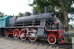 Bender Railway Station (Daniel Brennwald) Tags: bender bendery railwaystation soviettour transnistria locomotive cccp