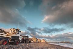Crab Boats, at Cromer (andybam1955) Tags: seafishing autumn crabboats shingle landscape seascapes fishing dawn coastal cromer sky northnorfolk rural boats norfolk sea