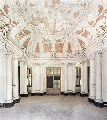 The Baroque Villa (suspiciousminds) Tags: urbex urbanexploration decay abandoned italy baroque stucco 1700s columns